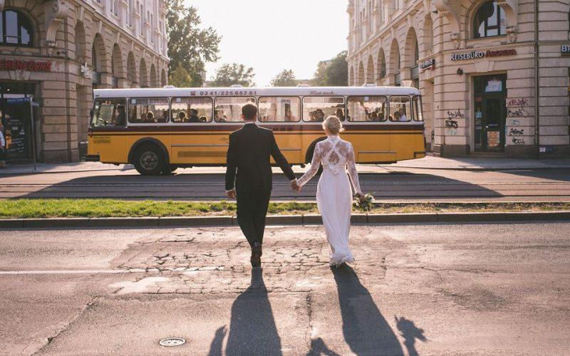 Als Hochzeitsfotograf in Leipzig: Über den Dächern der Stadt {Elena & Stephan}